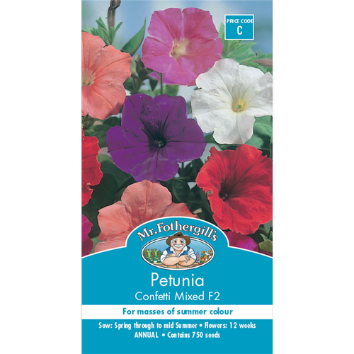 Mr Fothergill's Petunia Confetti Mixed Seeds