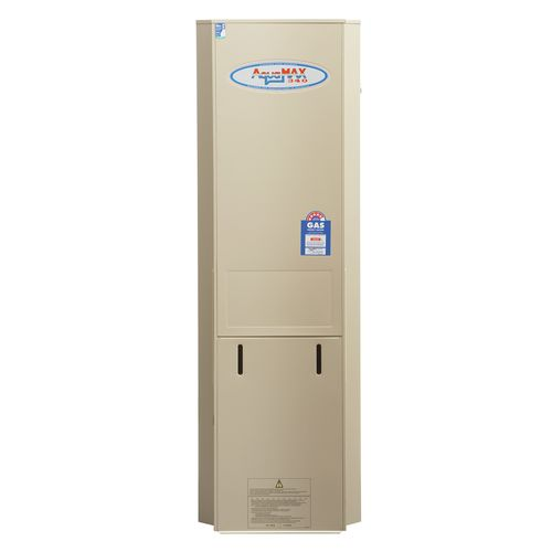 AquaMAX 155L Natural Gas Stainless Steel Water Heater Without Mixing Valve