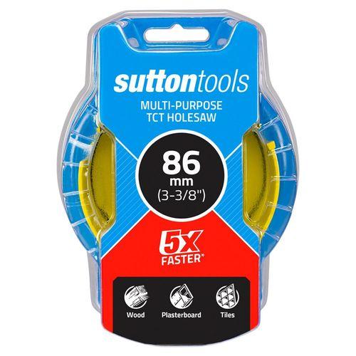 Sutton Tools 86mm TCT Multi-Purpose Seamless Holesaw