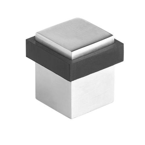 Lemaar 40 x 40mm Chrome Plated Square Floor Mount Door Stop