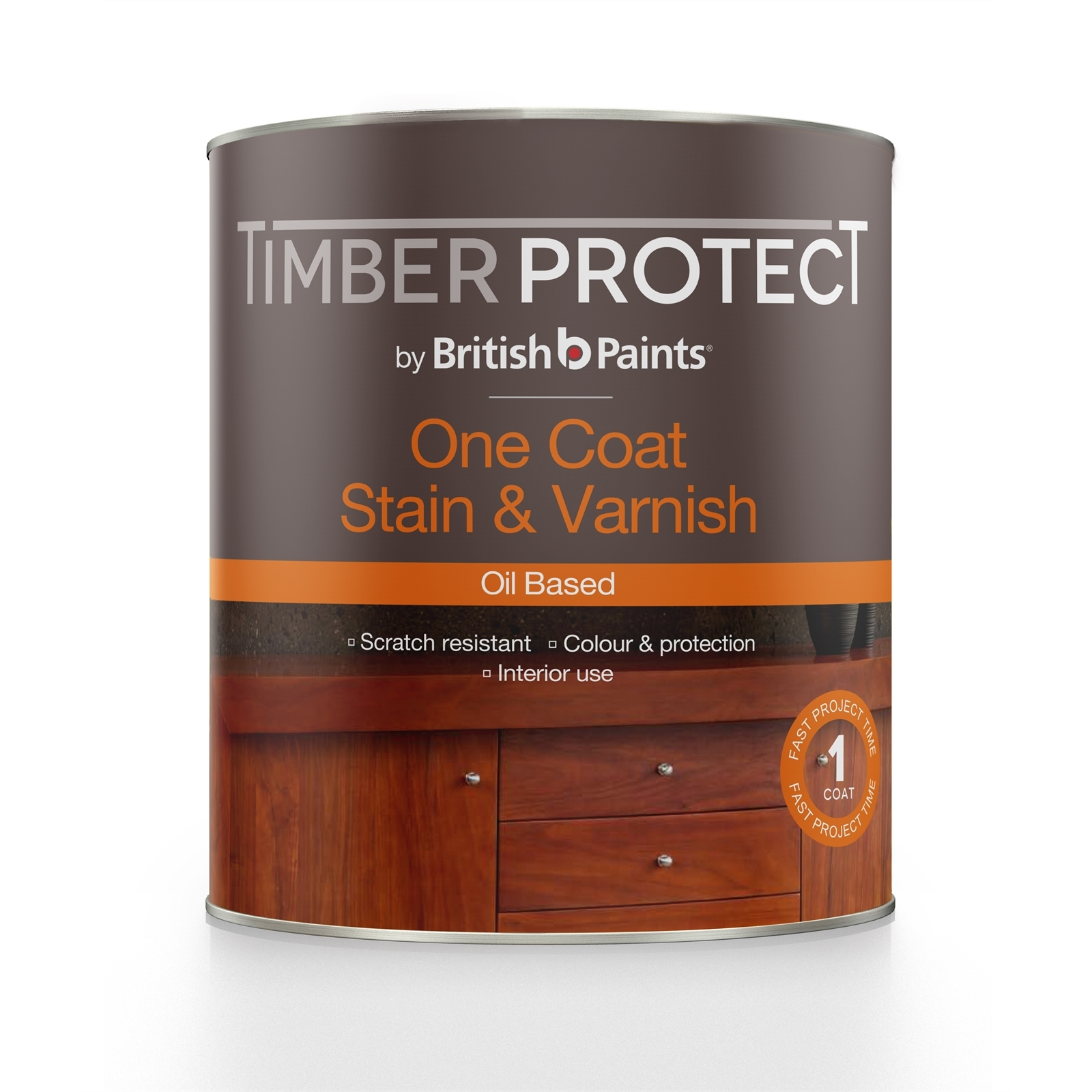 Timber Protect 1L Oil Based Jarrah One Coat Stain And Varnish