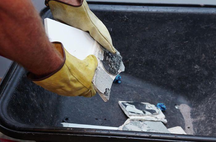 DIY Step Image - How to remove tiles . Blob storage upload.
