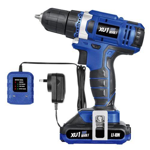 XU1 Blue 18V Cordless Drill Driver Kit