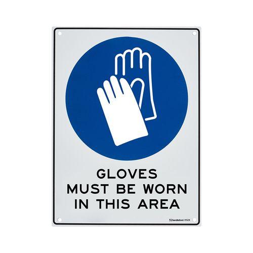 Sandleford 300 x 225mm Gloves Must Be Worn Plastic Sign