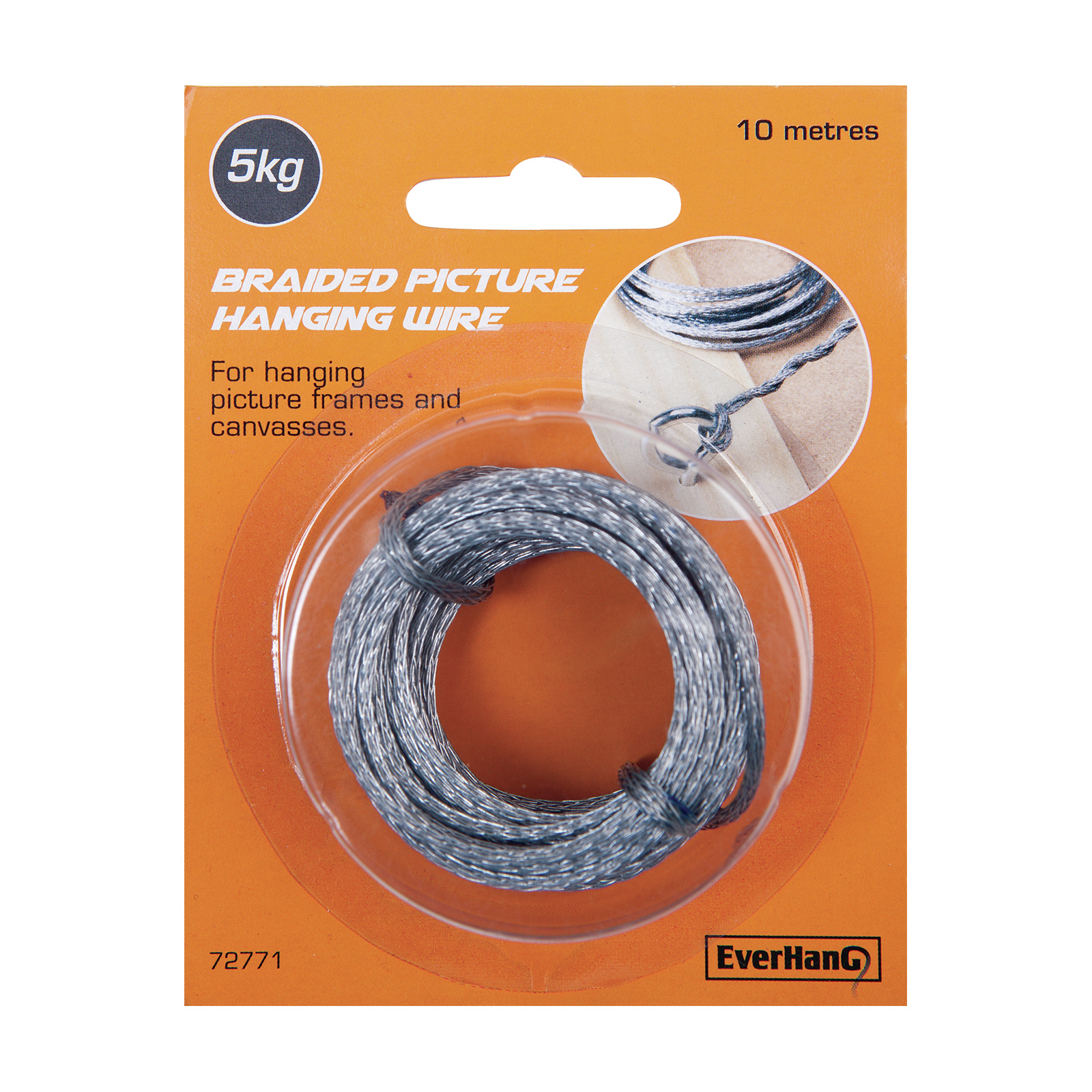Everhang 10m 5kg Braided Picture Hanging Wire