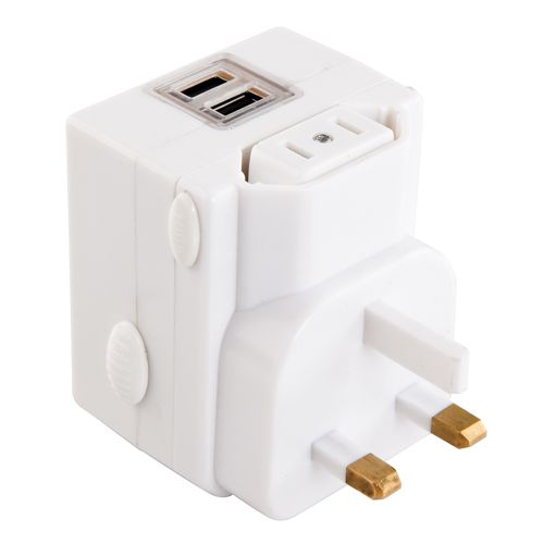 Jackson Universal Travel Adaptor With 2 USB Charge Outlets