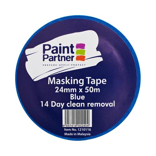 Paint Partner 24mm x 50m Blue 14 Day Resistance Masking Tape