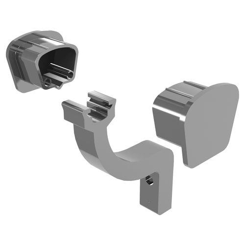 Peak Products Silver Aluminium Modular Handrail Brackets And End Caps
