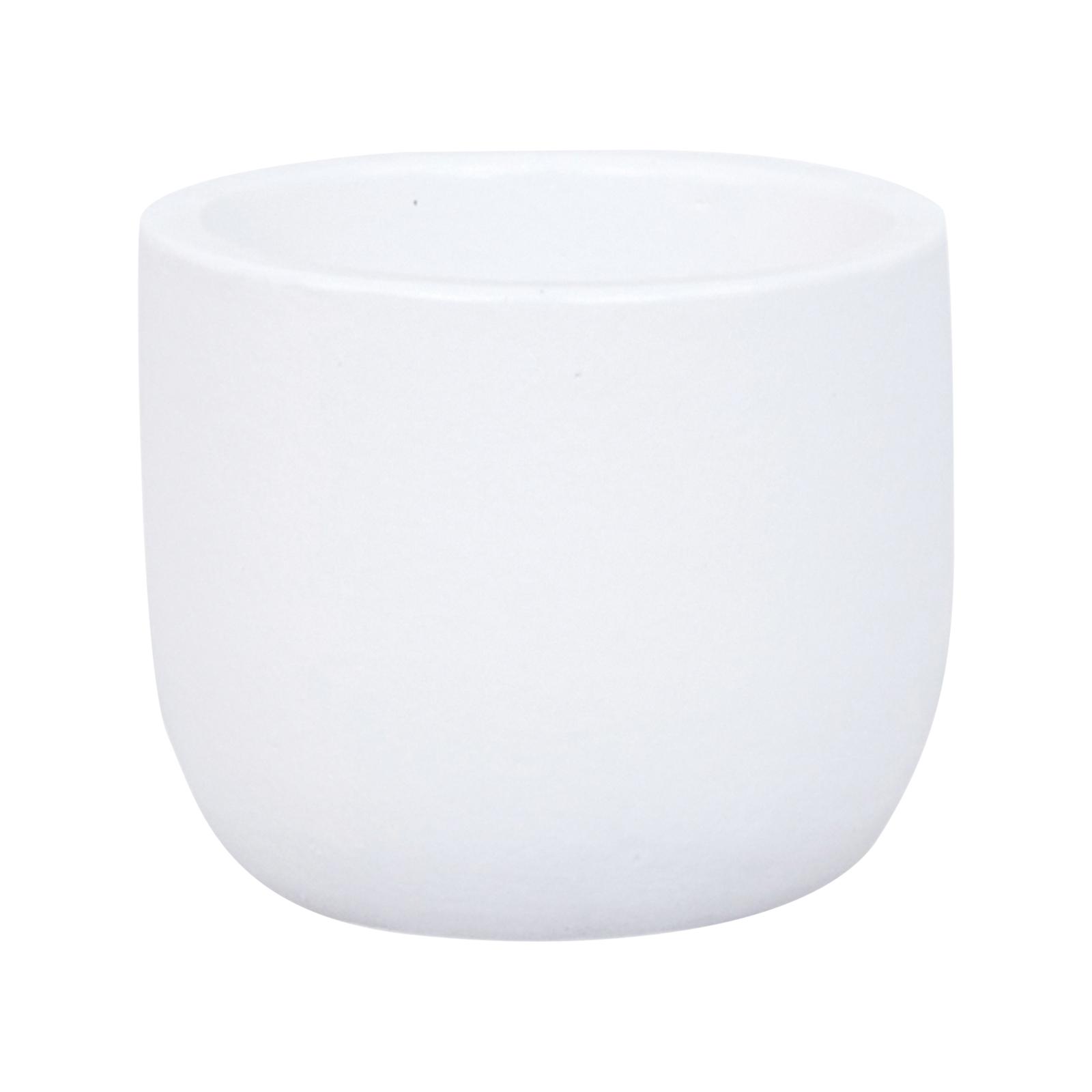 Lotus 11 x 9cm White  X Small Plain Ceramic Egg Pot
