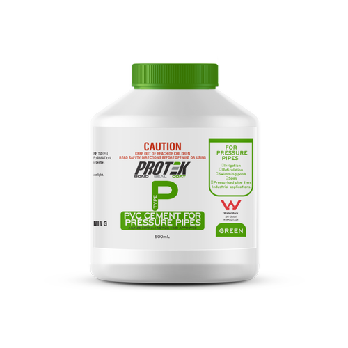 Protek 500ml Type P Green PVC Cement For High Pressure Pipes