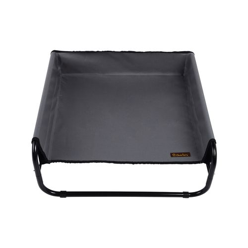 Charlie's Pet High Walled Outdoor Trampoline Pet Bed Cot - Grey