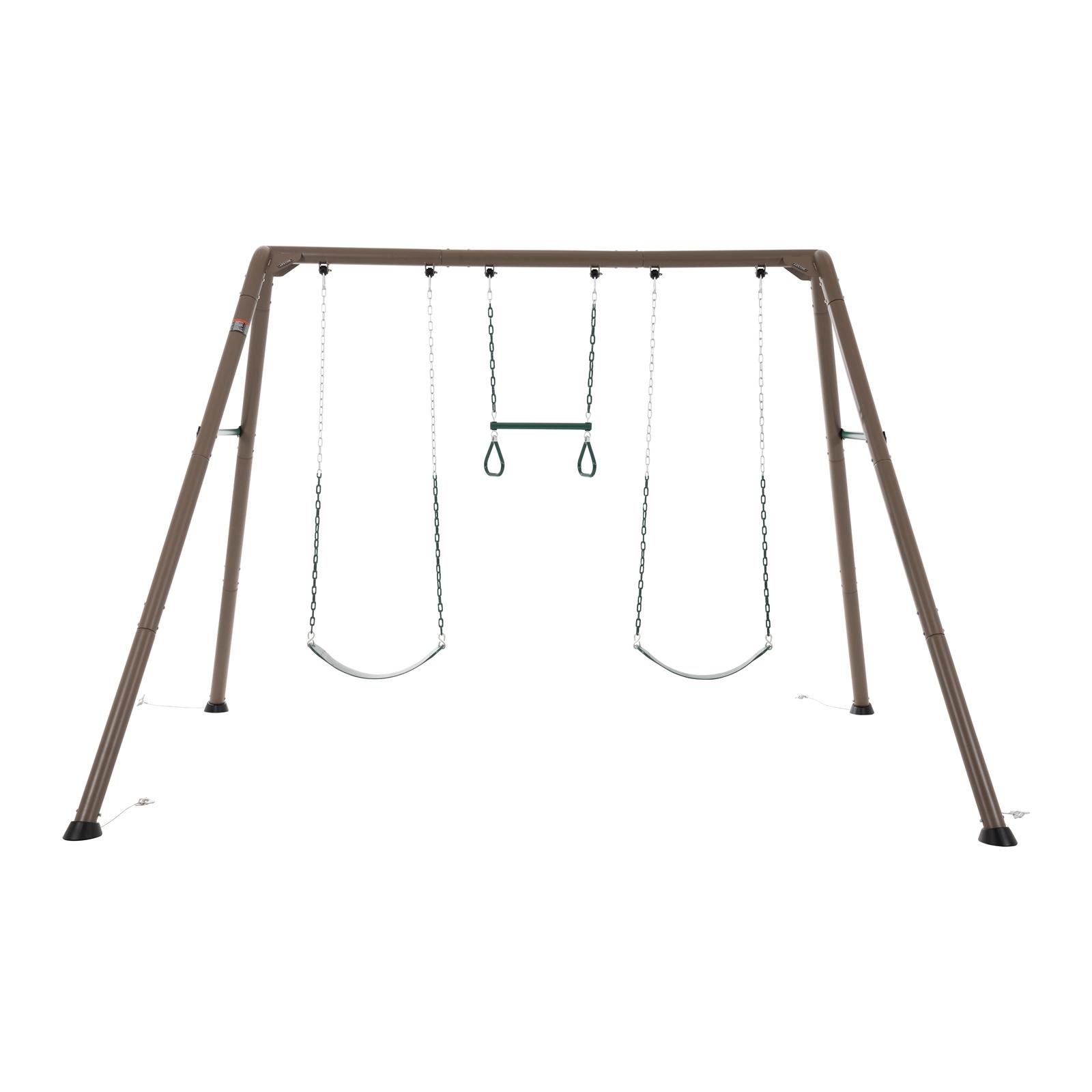 Swing Slide Climb Lifetime Heavy Duty 3 Swing Set