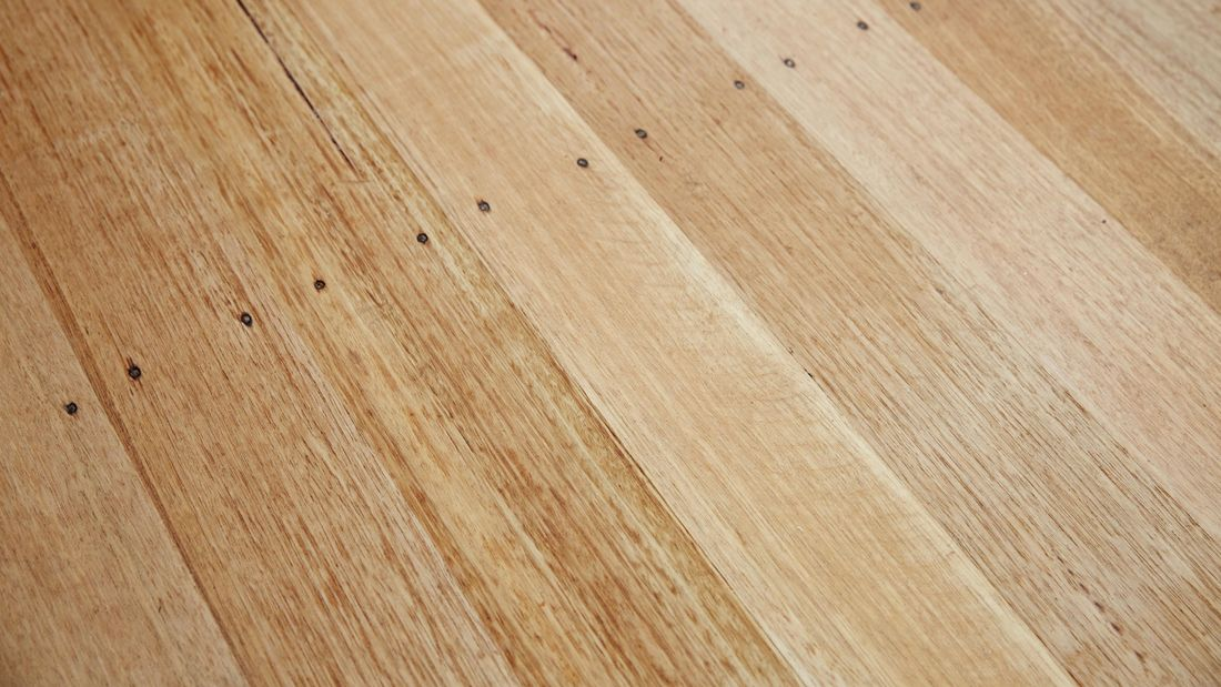A newly cleaned hardwood timber floor