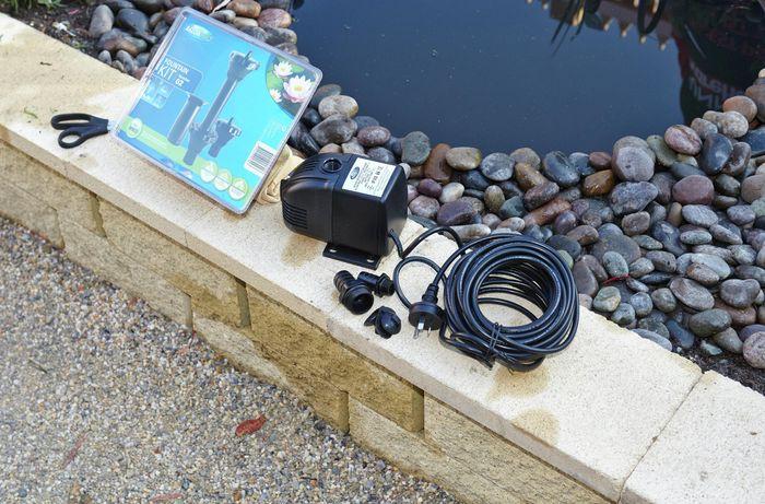 DIY Step Image - How to install a pond pump . Blob storage upload.
