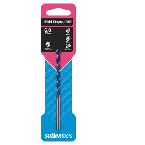 Sutton Tools 6 x 100mm Multi Purpose Drill Bit