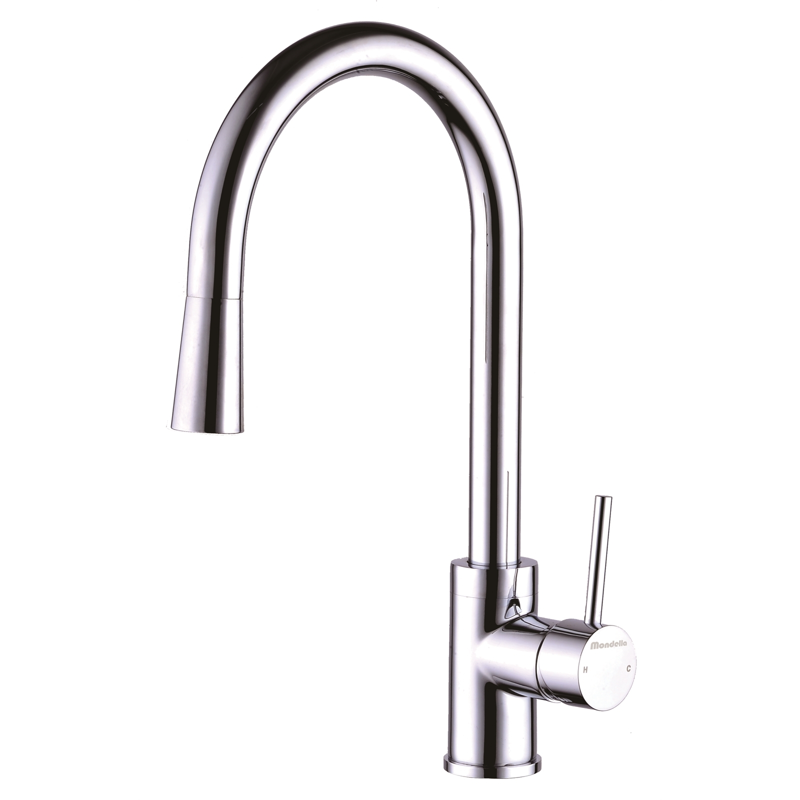 Mondella Chrome Resonance Pin Lever Vege Spray Sink Mixer - Suitable For Mains Pressure Only