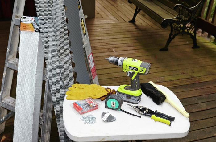 Tools and materials required to complete this project