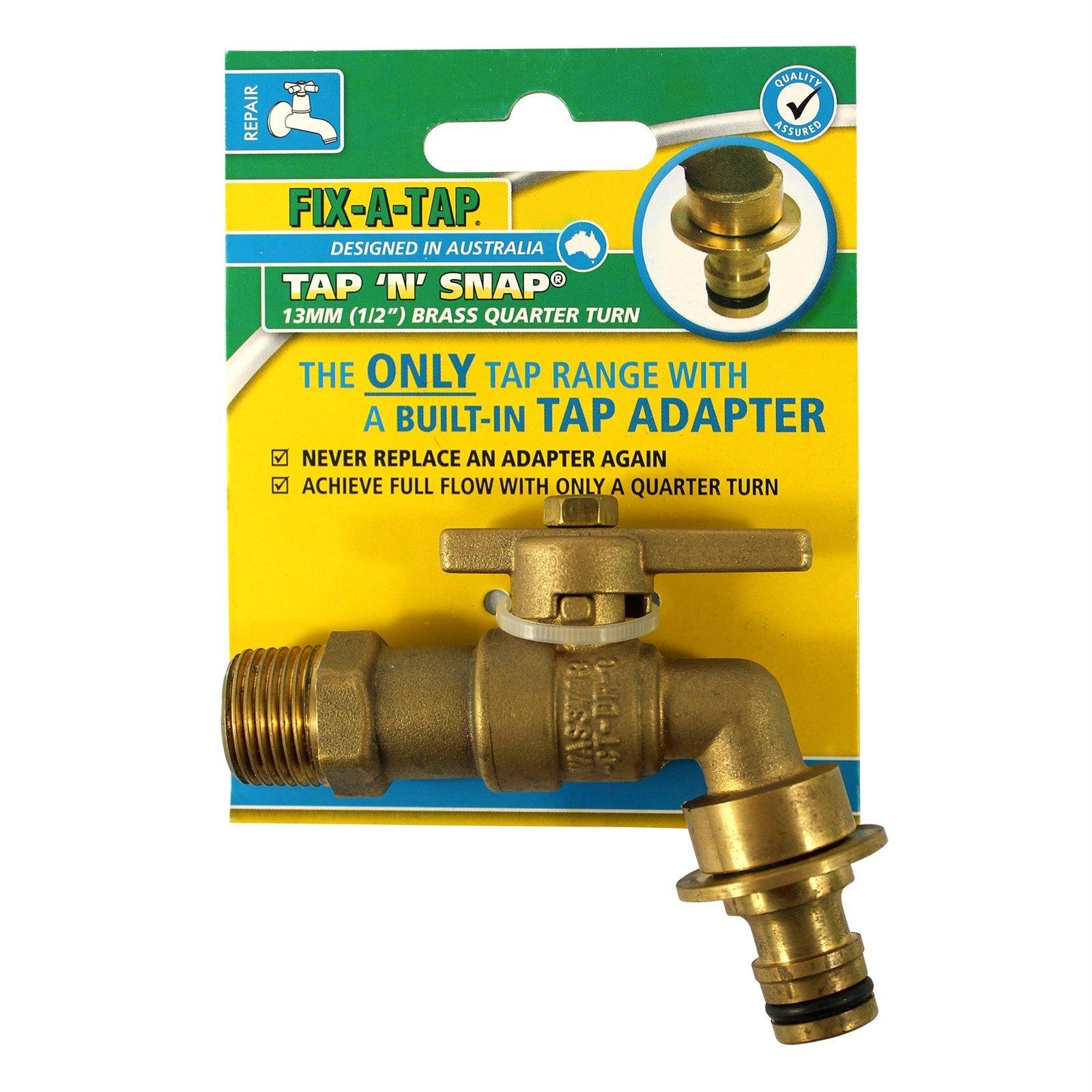 "FIX-A-TAP 13mm 1/2"" Tap N Snap Quarter Turn Garden Tap"