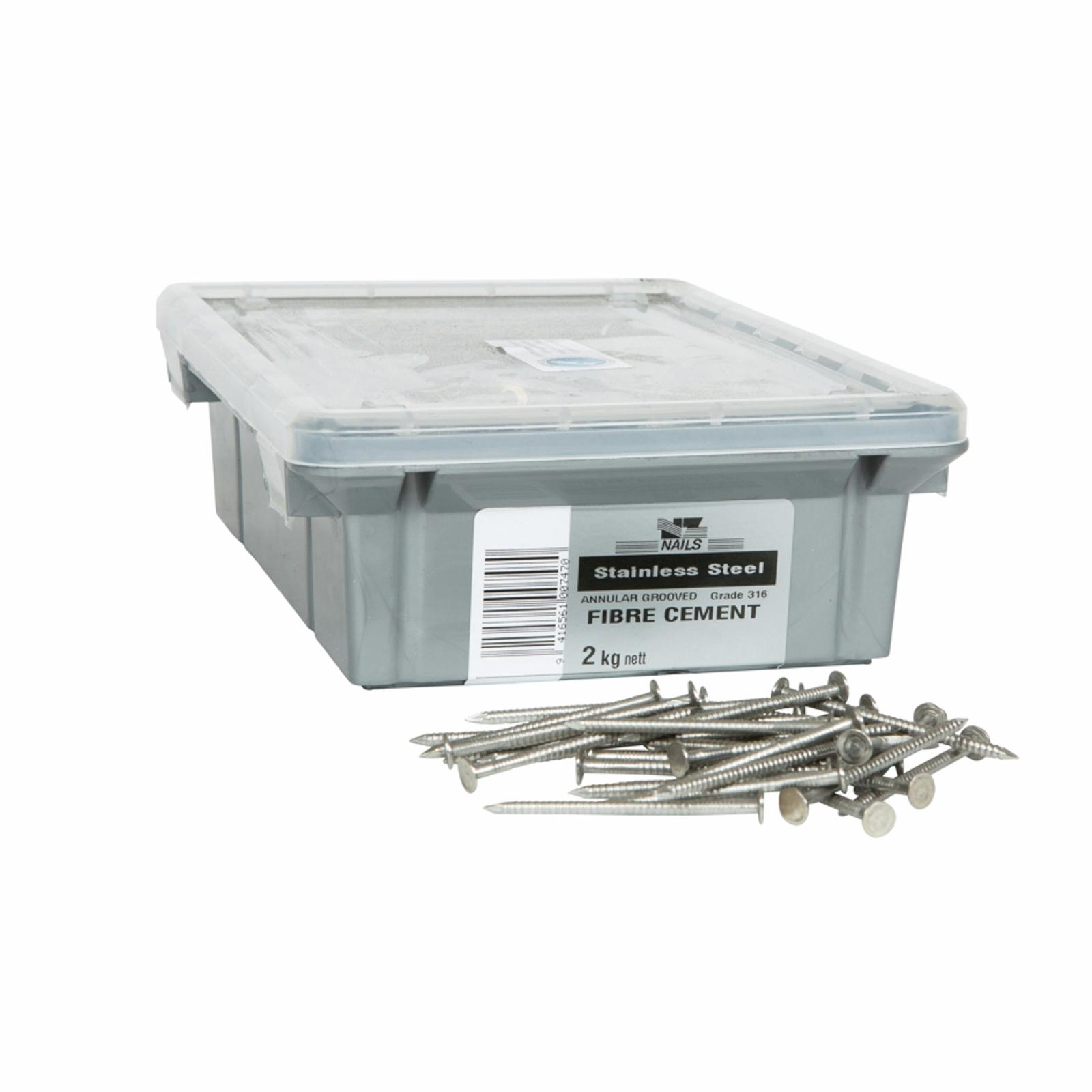 NZ Nails 50 x 2.8mm 316 Stainless Steel Hardiflex Flat Head Nail