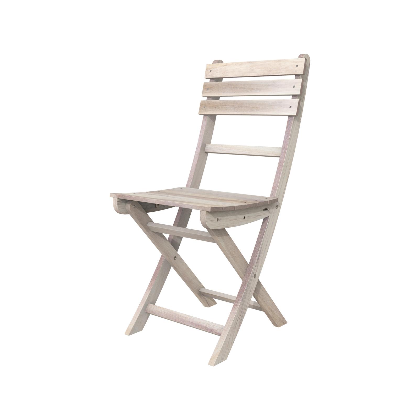Interbuild Organic White Sofia Folding Chair - 2 Pack