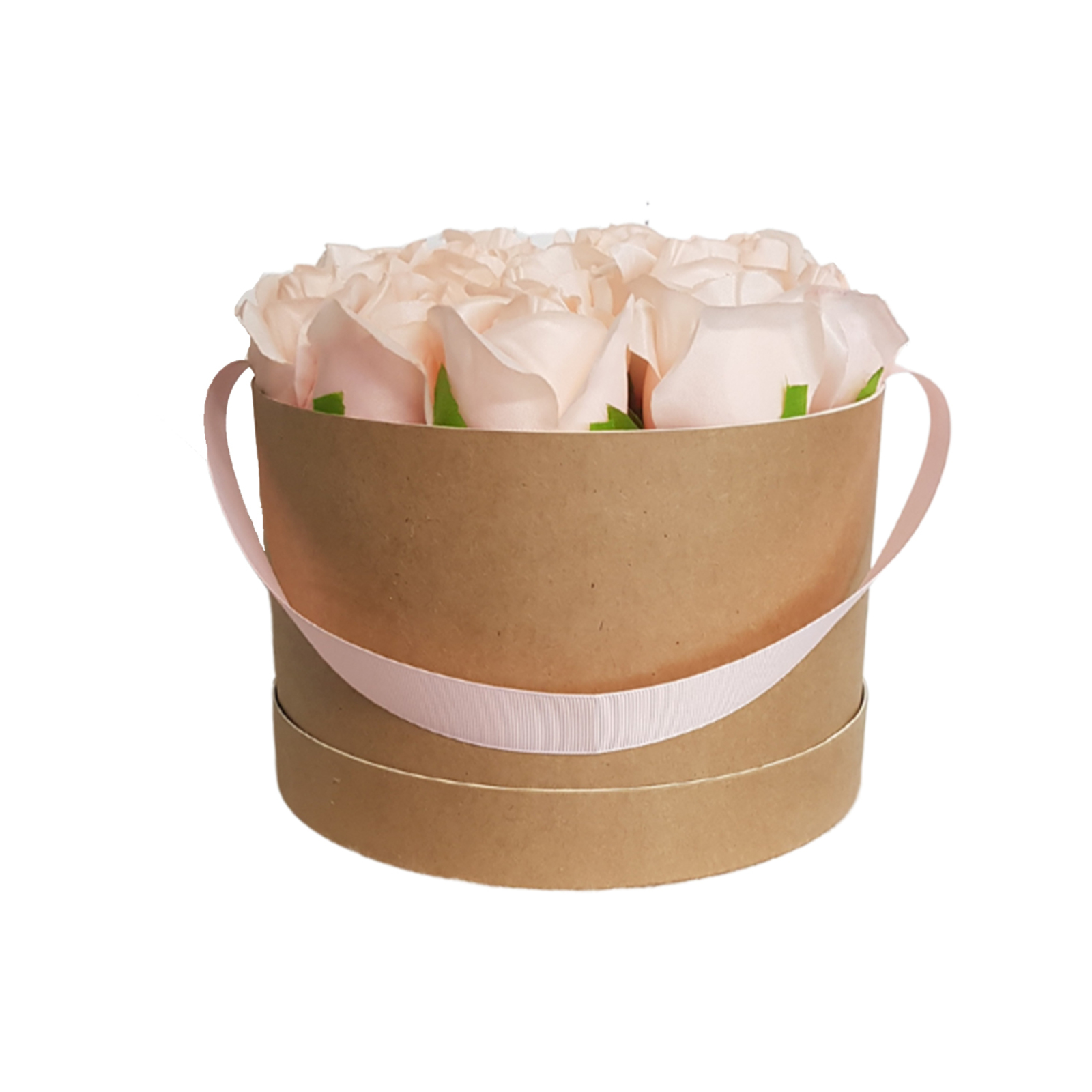 UN-REAL 17cm Blush Artificial Flower Rose Gift Box