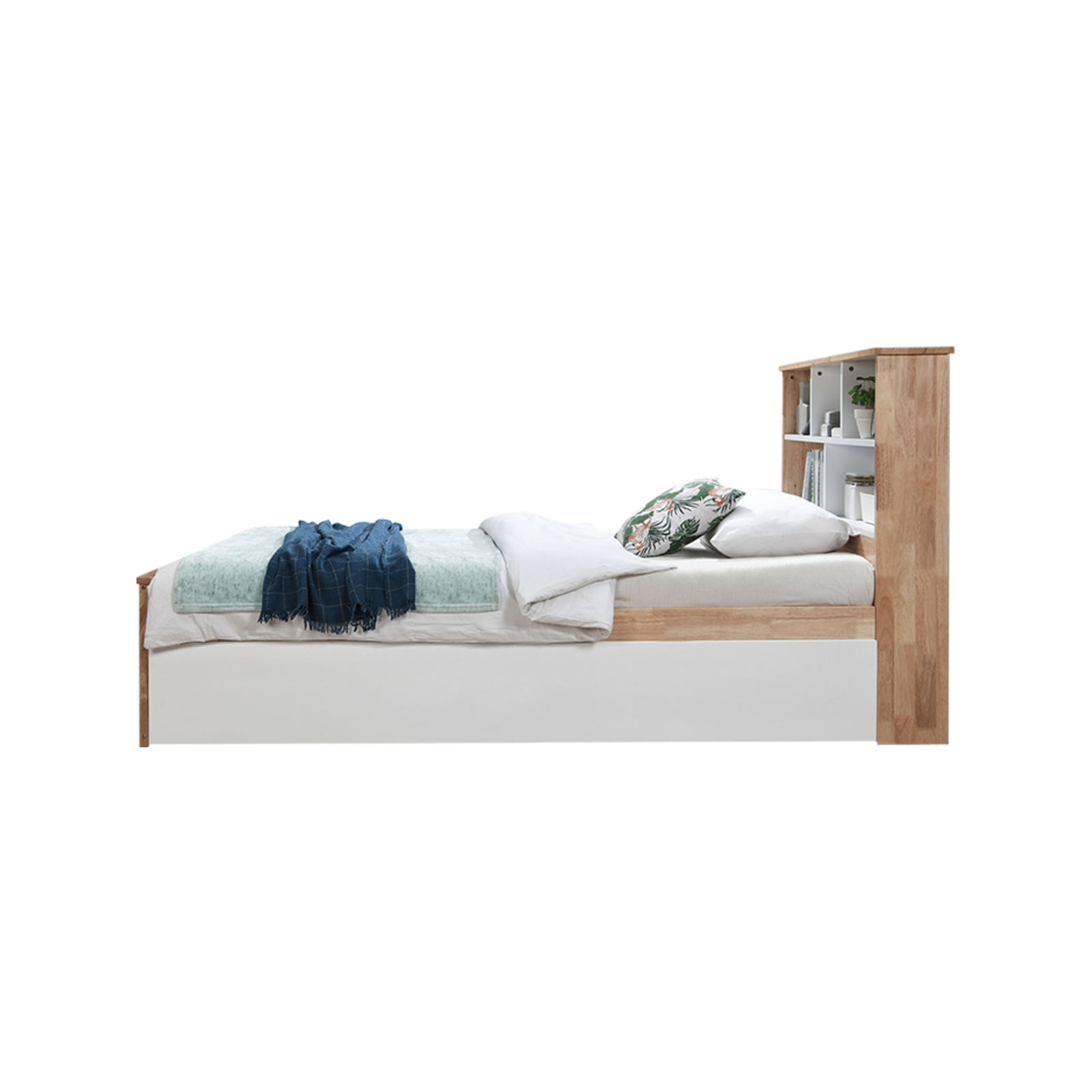 Myer Natural Single Bed | Trundle and Mattress Set