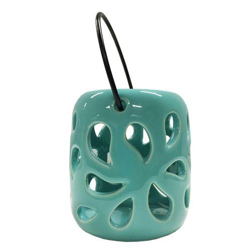 Classic Teal Poppy Lantern