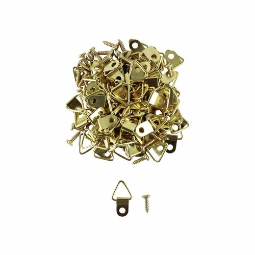 Everhang 10kg Brass Plated Framing Picture Triangles - 100 Pack
