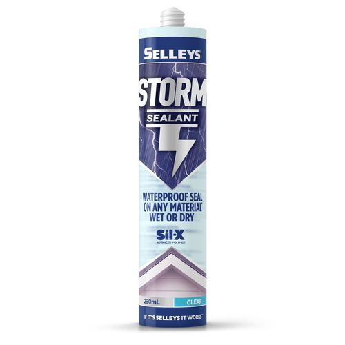 Selleys 290ml Clear Storm Waterproof Gutter And Roof Sealant