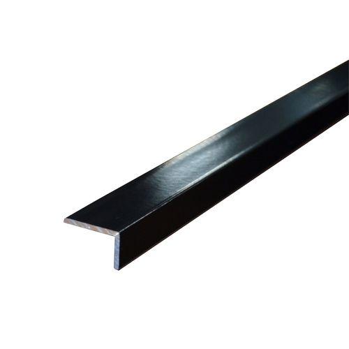 Metal Mate 25 x 20mm x 3m 1.6mm Black Powder Coated Aluminium Angle