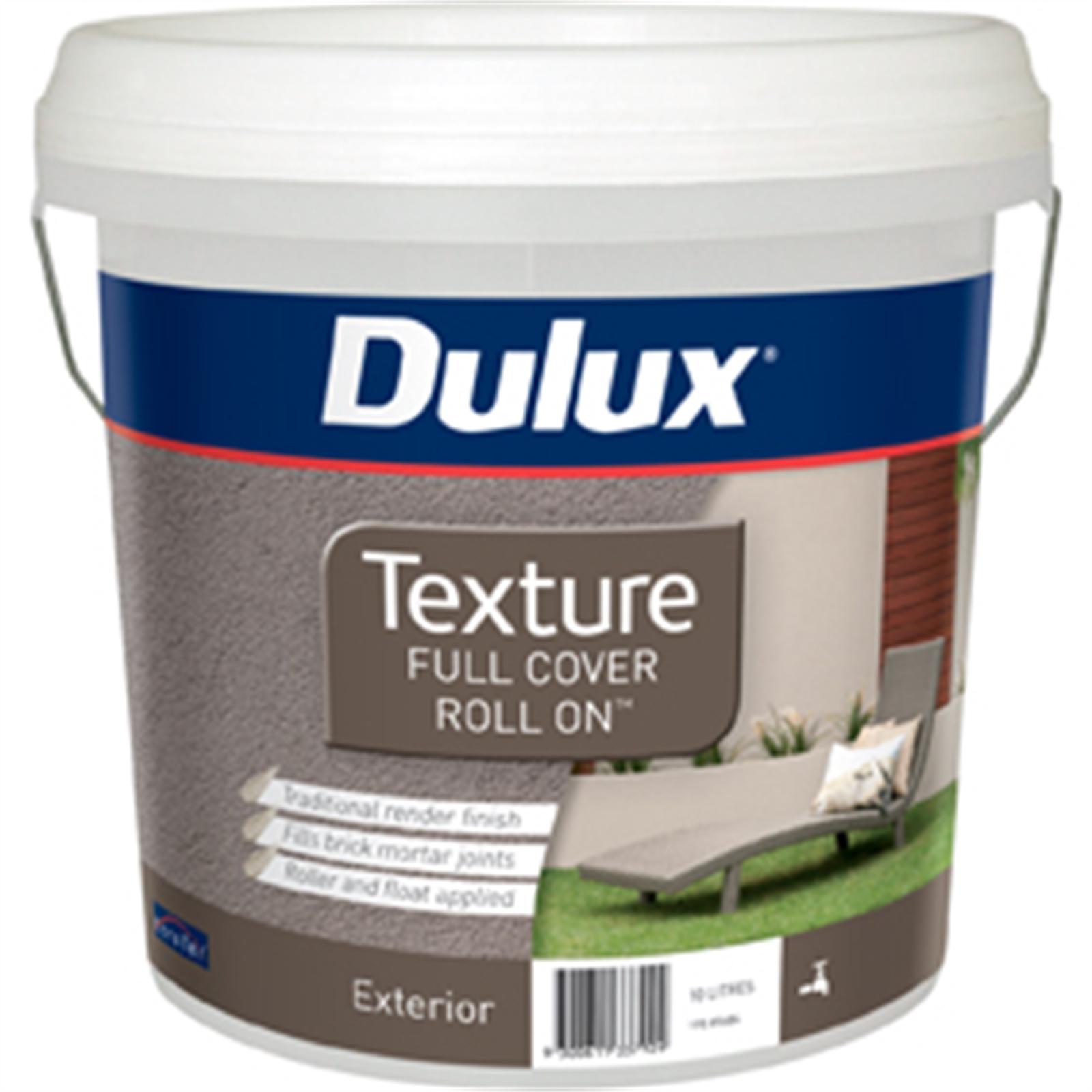 Dulux 10L Texture Full Cover Exterior Paint