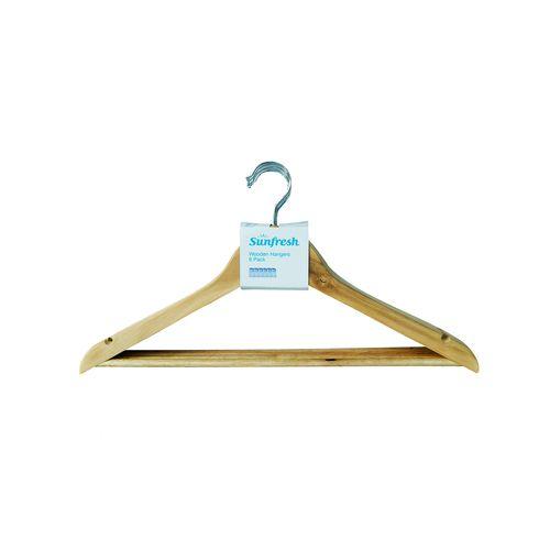 Sunfresh Wooden Hangers 6pk