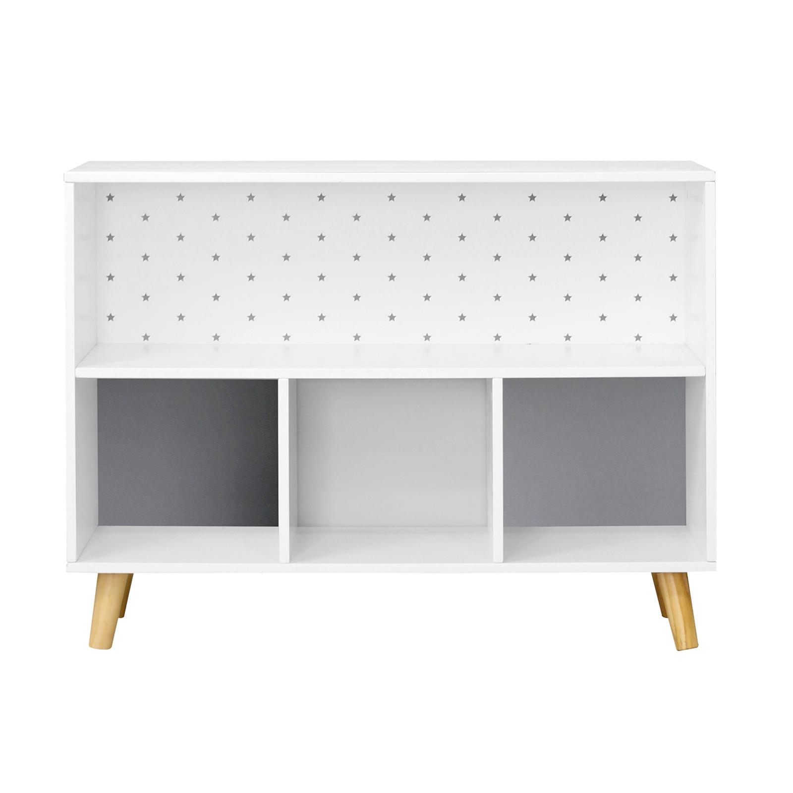 Flexi Storage Kids 78 x 58 x 28cm Grey Stars Cube Storage Unit With Legs