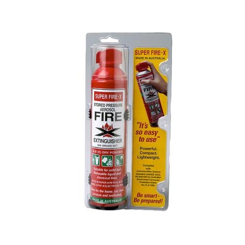 Super Fire-X 500g Aerosol Fire Extinguisher