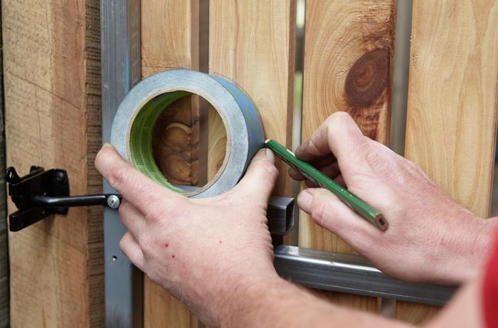DIY Step Image - How to install a gate latch . Blob storage upload.