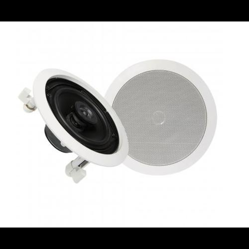 """TDJ 6.5"""" Studio Acoustics 2-Way In-Wall/Ceiling Stereo Speakers"""