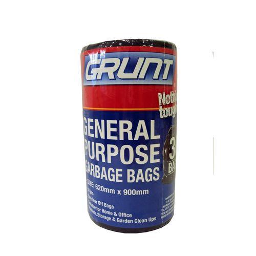 Grunt 620 x 900mm General Purpose Rubbish Bags - 30 Pack