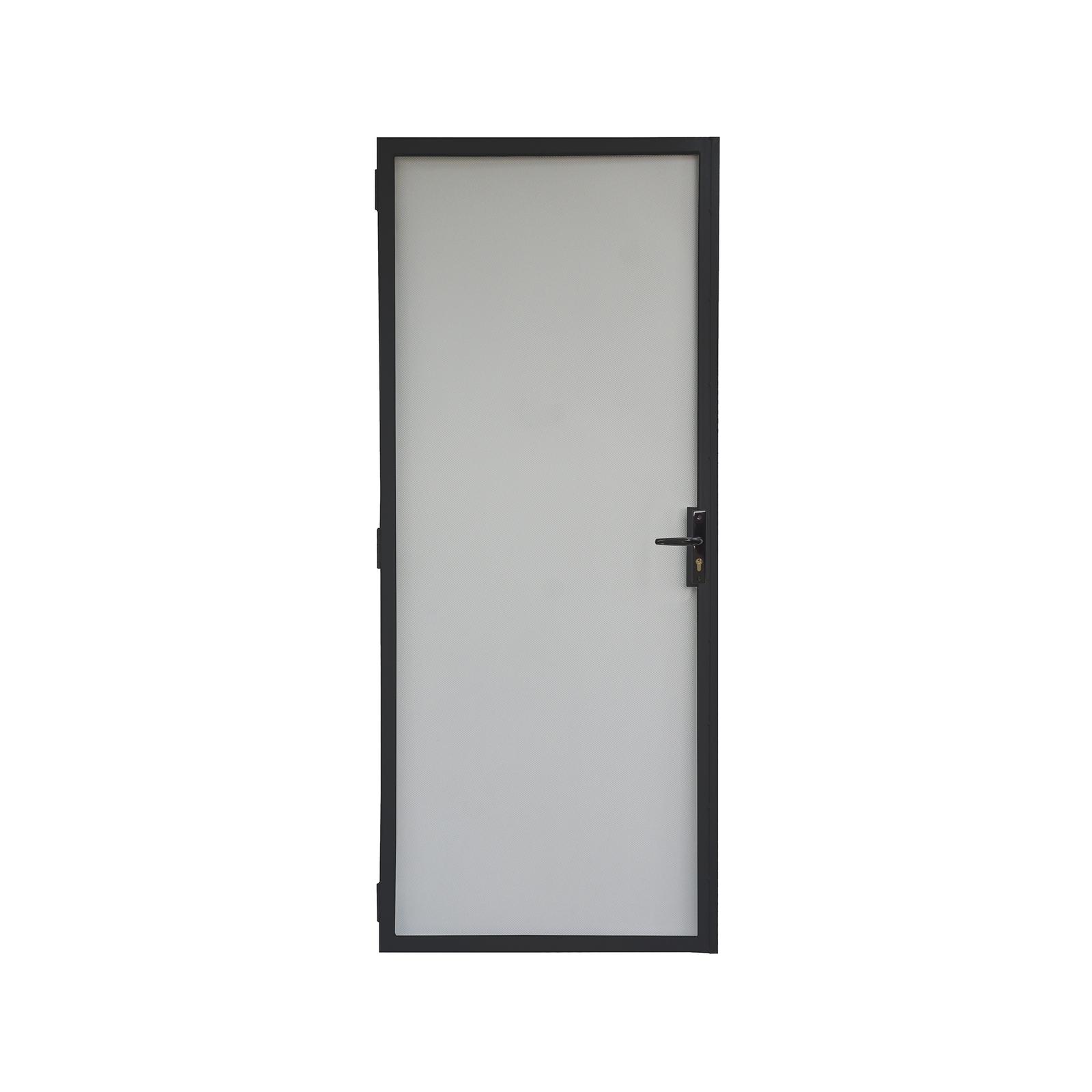 Pillar Black 2024 x 806 Contemporary Steel Frame Imp Screen Door