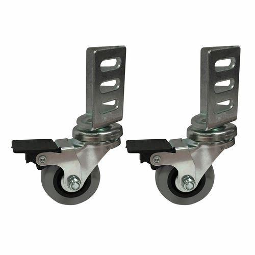 Move It 50mm 40kg Swivel Brake Angle Plate Castor  - Pack 2