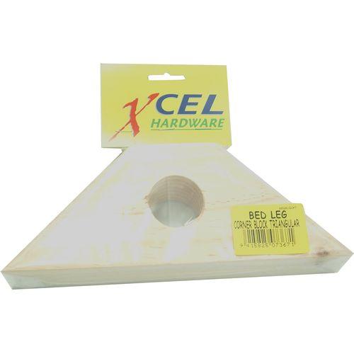 Xcel Bed Leg Corner Block Triangular