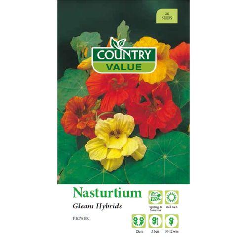 Country Value Seed Nasturtium Gleam Hybrids