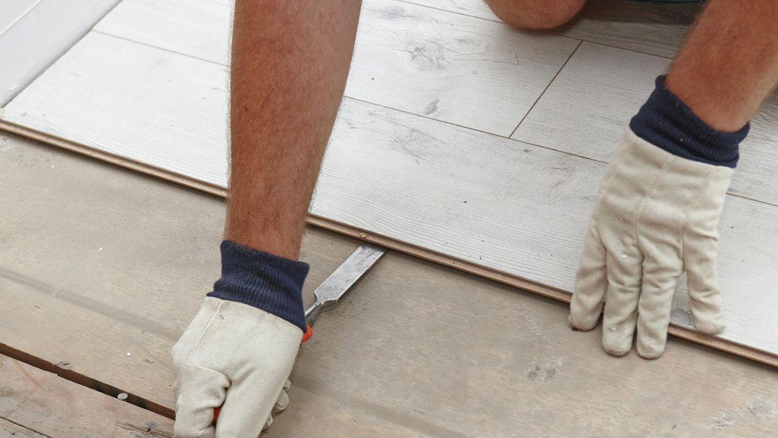 DIY Step Image - How to remove laminate flooring . Blob storage upload.