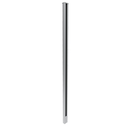 Architects Choice 50 x 30 x 1300mm Silver Glass Fence Wall Post