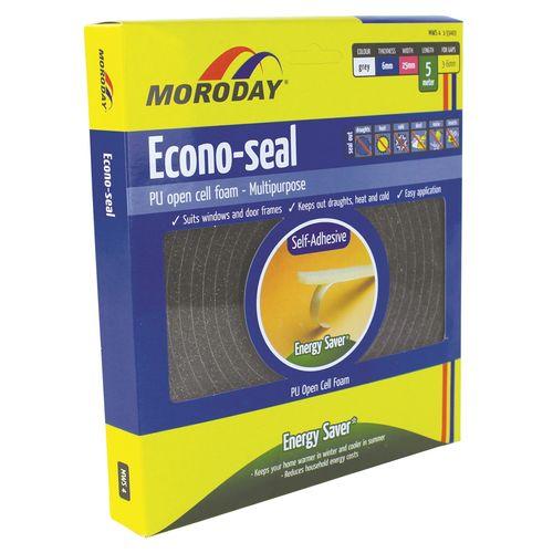Moroday 6 x 25mm x 5m Grey Econo Weatherseal Tape