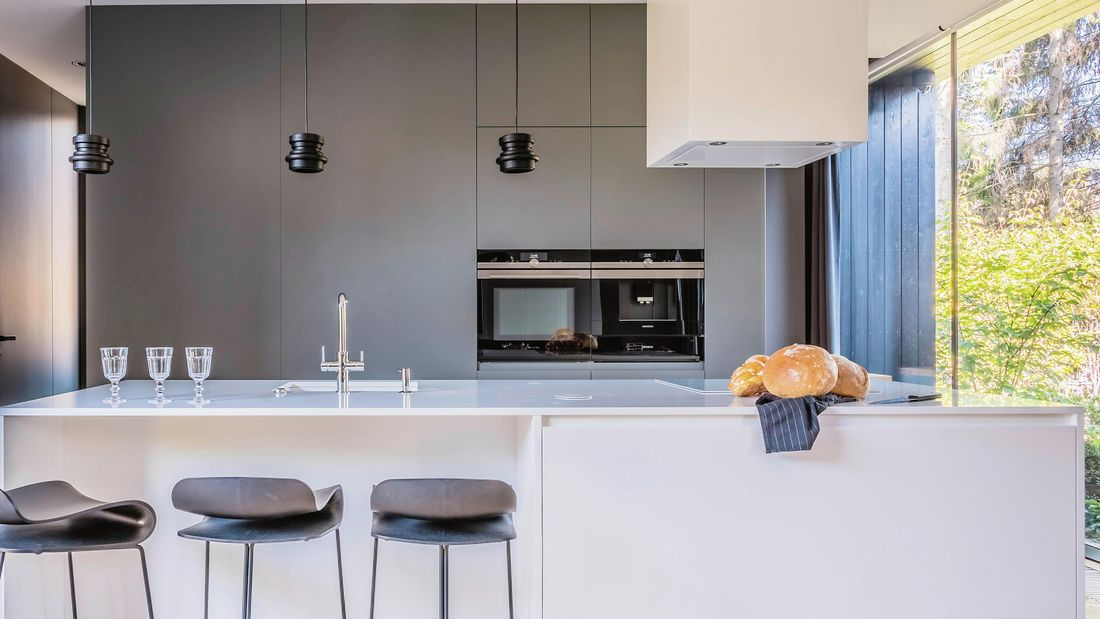 A modern kitchen layout