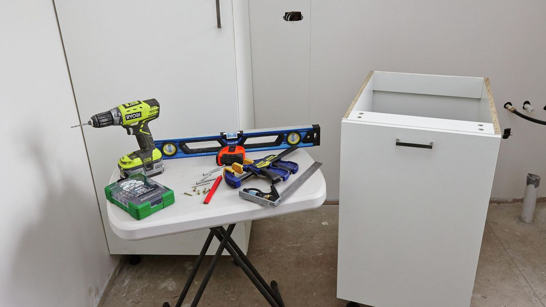DIY Step Image - How to install a laundry chute . Blob storage upload.