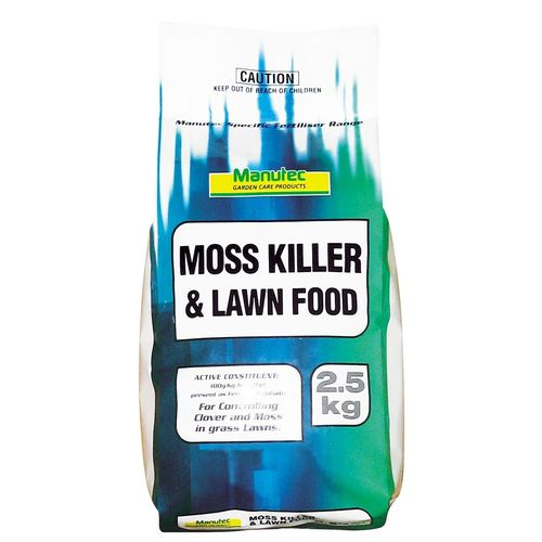 Manutec 2.5kg Moss Killer and Lawn Food