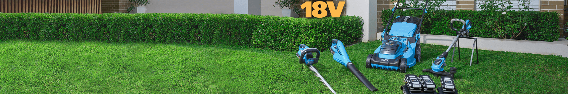Lawn mower, leaf blower, hedge trimmer and line trimmer.