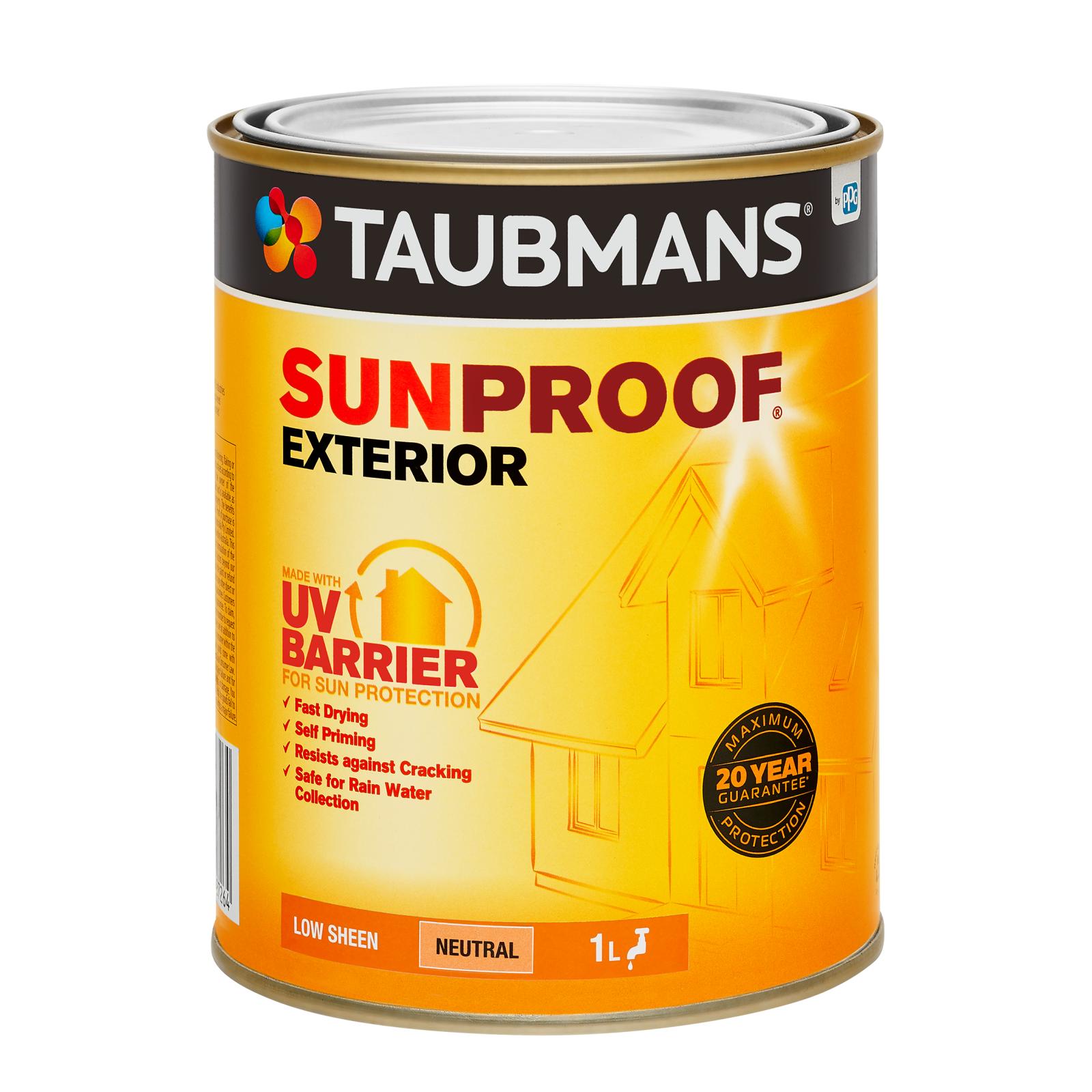 Taubmans Low Sheen Neutral Sunproof Exterior Paint - 1L