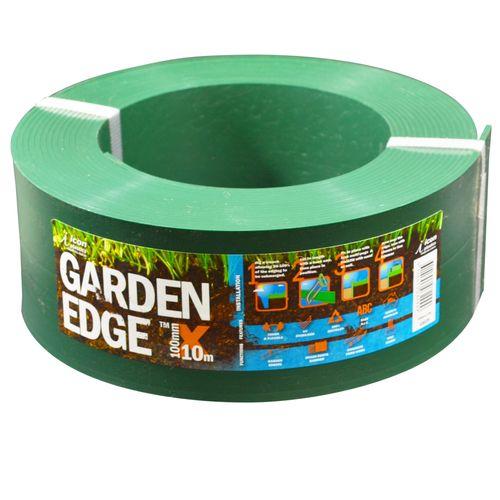 Icon Plastics 100mm x 10m Green Garden Edge